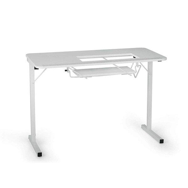 Arrow 601 Gidget I Sew-Much-More Folding Sewing, Cutting, Quilting, and Craft Table, Portable with Wheels and Lift, White Finish