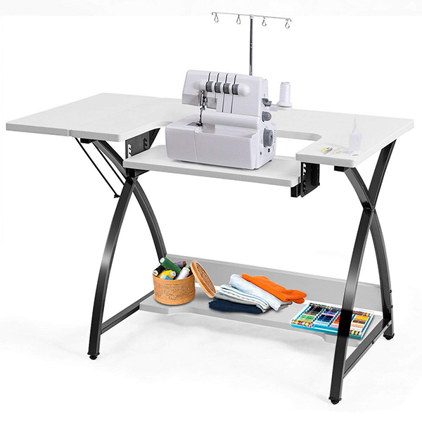 Costway Sewing Machine Table with Adjustable Platform Folding Side Shelf (Normal)