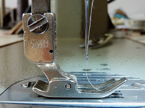 silver sewing with single  thread